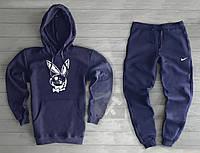 Спортивный мужской костюм Nike (Найк), темно-синий, код OW-2022