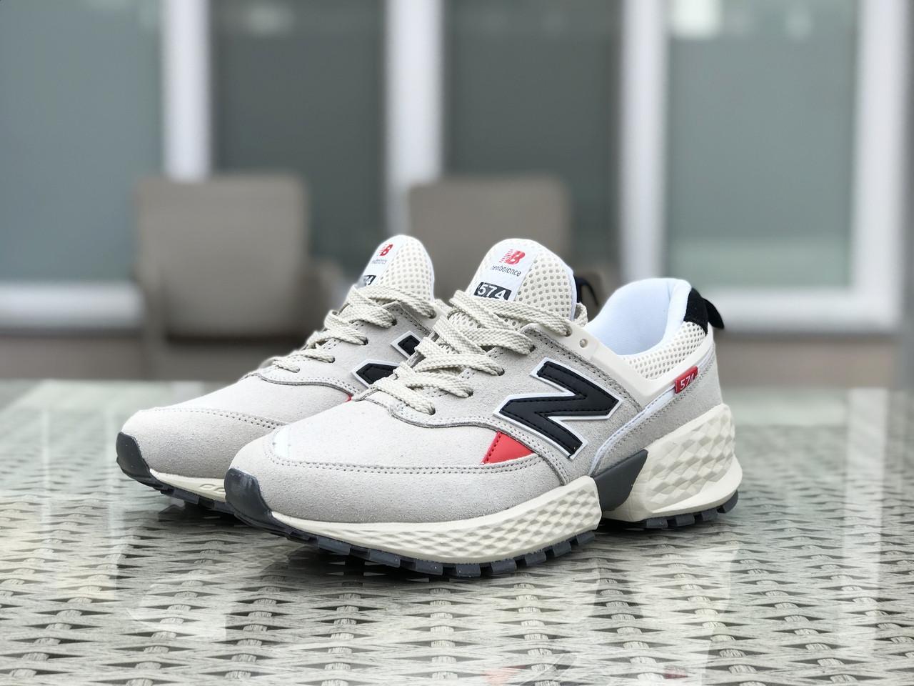 Мужские кроссовки (в стиле) New Balance 574 замшевые,бежевые