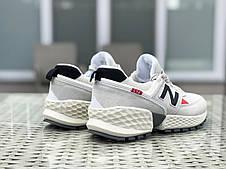 Мужские кроссовки (в стиле) New Balance 574 замшевые,бежевые, фото 3