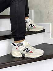 Мужские кроссовки (в стиле) New Balance 574 замшевые,бежевые, фото 2