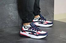 Осенние мужские кроссовки (в стиле) Puma Cell Venom,белые с синим, фото 2