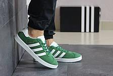 Мужские кроссовки (в стиле) Adidas Gazelle,замшевые,зеленые, фото 3