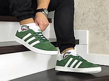 Мужские кроссовки (в стиле) Adidas Gazelle,замшевые,зеленые, фото 2