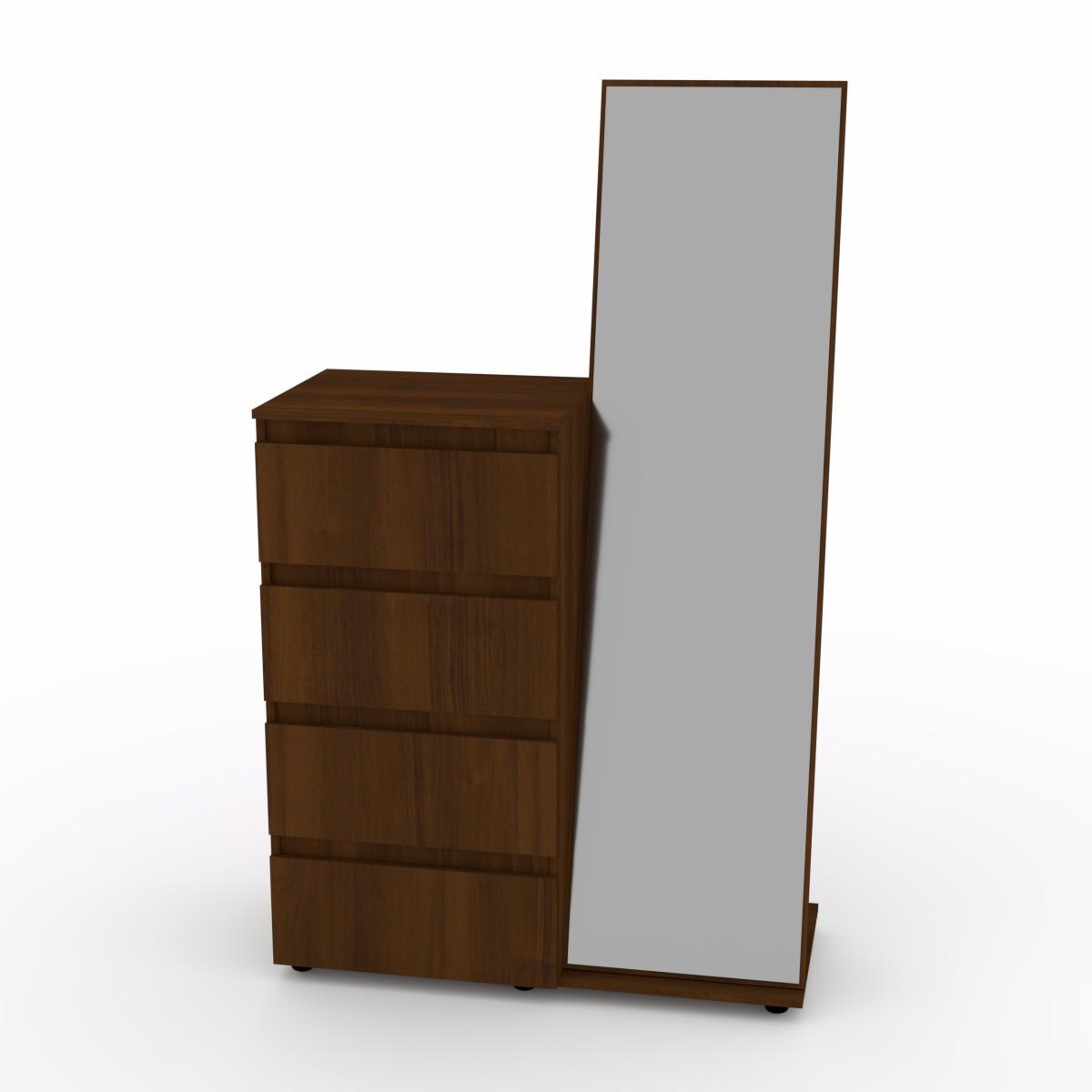 Комод с зеркалом орех экко Компанит (100х45х166 см)