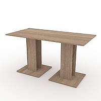 Стол кухонный КС-8 дуб сонома Компанит (140х70х74 см)