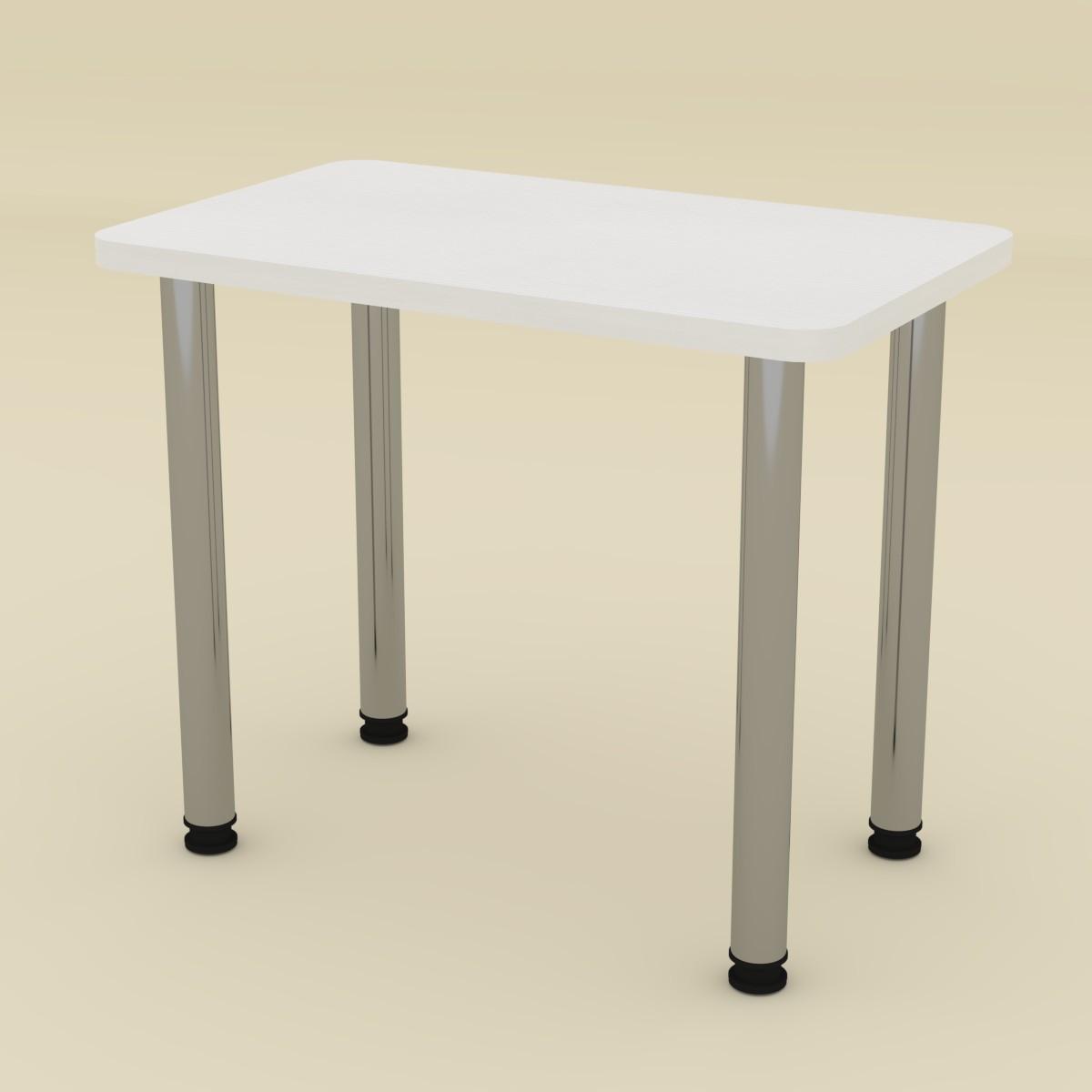 Стол кухонный КС-9 белый Компанит (90х55х73 см)