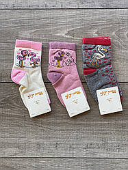 Дитячі підліткові шкарпетки бавовна Moni Life для дівчаток 5-6,7-8,9-10,11-12 років 12 шт в уп мікс 3 кольорів