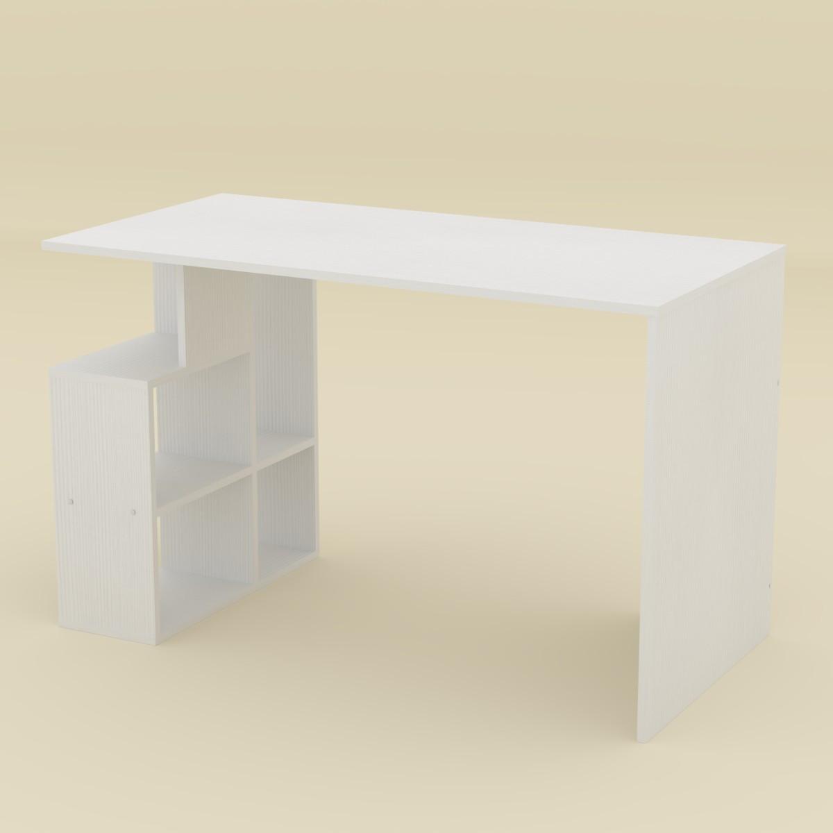 Стол письменный Ученик-3 белый Компанит (120х60х74 см)