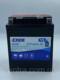 Мото аккумулятор EXIDE ETX14AHL-BS 12Ah