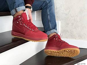Кроссовки (в стиле) Nike Lunar Force 1 Duckboot,красные, фото 2