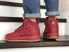 Кроссовки (в стиле) Nike Lunar Force 1 Duckboot,красные, фото 3