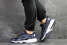 Мужские кроссовки (в стиле) Nike Air Huarache Fragment Design,темно синие, фото 3