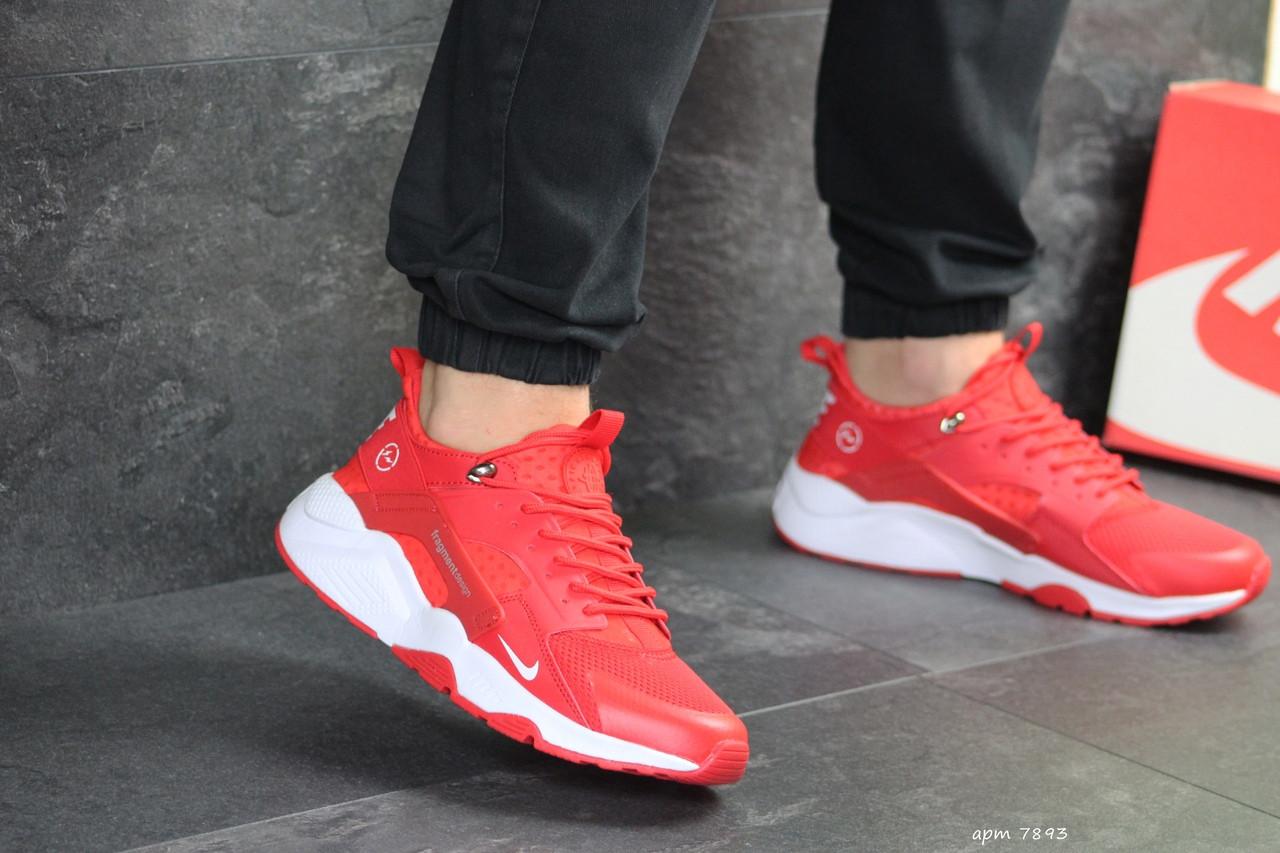 Мужские кроссовки (в стиле) Nike Air Huarache Fragment Design,красные