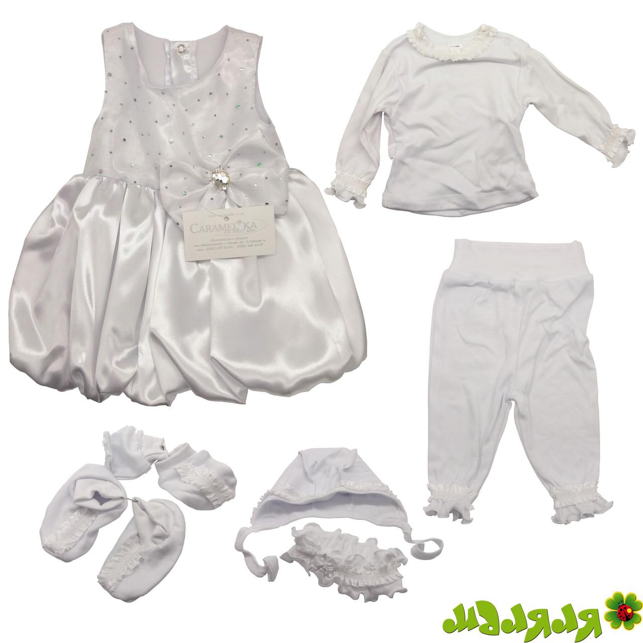 Платье детское праздничное белое р.56 Caramelka 07 КС 27.01