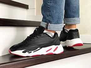 Мужские кроссовки (в стиле) Adidas Yeezy Boost 700,черно белые, фото 3