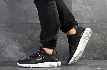 Мужские кроссовки (в стиле) Nike Undercover X Nike React Element 87,черно-белые, фото 2