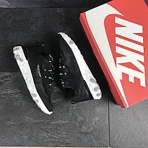 Мужские кроссовки (в стиле) Nike Undercover X Nike React Element 87,черно-белые, фото 3