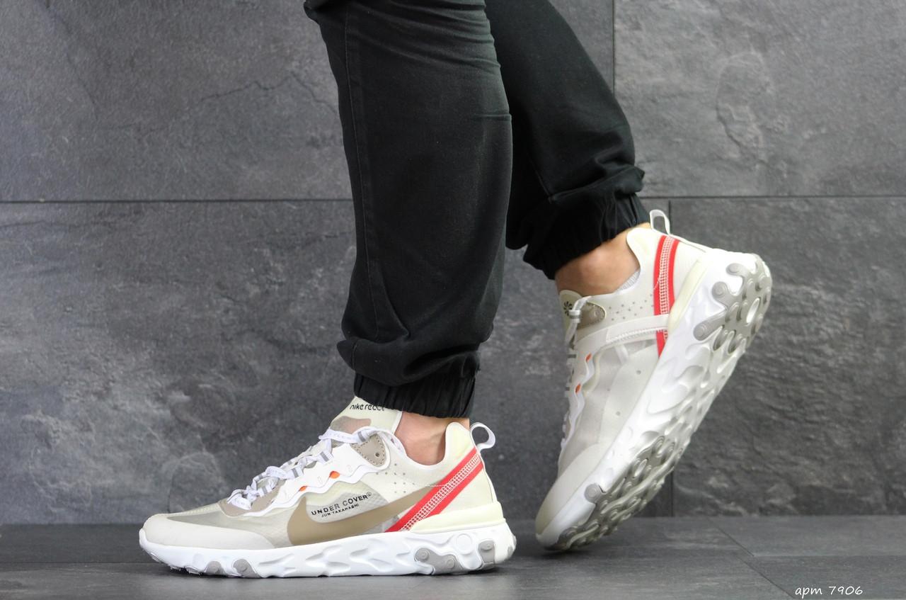 Мужские кроссовки (в стиле) Nike Undercover X Nike React Element 87,бежевые