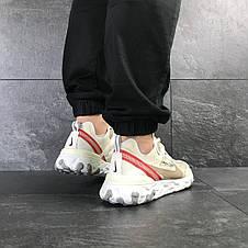 Мужские кроссовки (в стиле) Nike Undercover X Nike React Element 87,бежевые, фото 3