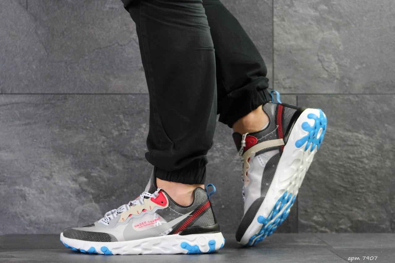 Мужские кроссовки (в стиле) Nike Undercover X Nike React Element 87,серые с красным