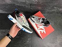 Мужские кроссовки (в стиле) Nike Undercover X Nike React Element 87,серые с красным, фото 2