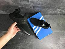 Мужские летние кроссовки (в стиле) Adidas,черные,сетка, фото 2