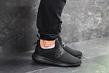 Мужские летние кроссовки (в стиле) Adidas,черные,сетка, фото 3