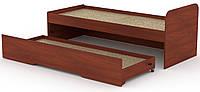 Кровать с выдвижным ящиком КОМПАНИТ Кровать-80+70 Яблоня (204.2х84.6х75)