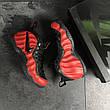Мужские кроссовки (в стиле) Nike Air Foamposite Pro,красные с черным, фото 2
