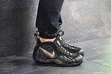 Мужские кроссовки (в стиле) Nike Air Foamposite Pro,черные с золотым 46р, фото 2