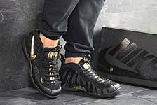 Мужские кроссовки (в стиле) Nike Air Foamposite Pro,черные с золотым 46р, фото 3
