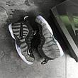 Мужские кроссовки (в стиле) Nike Air Foamposite Pro,серые с черным, фото 4