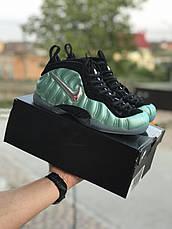 Мужские кроссовки (в стиле) Nike Air Foamposite Pro,черные с бирюзовым, фото 3