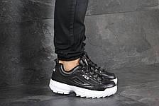Мужские кроссовки (в стиле) Fila,черно белые, фото 3