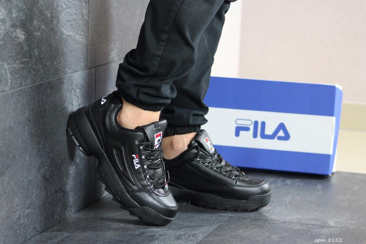Мужские кроссовки (в стиле) Fila,черные