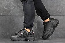 Мужские кроссовки (в стиле) Fila,черные, фото 3