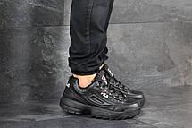 Мужские кроссовки (в стиле) Fila,черные, фото 2