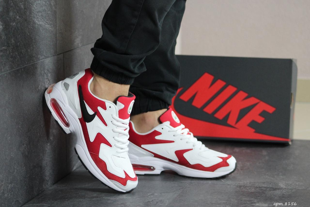 Кроссовки (в стиле) мужские Nike Air Max 2,белые с красным