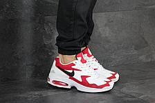 Кроссовки (в стиле) мужские Nike Air Max 2,белые с красным, фото 2