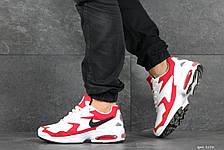 Кроссовки (в стиле) мужские Nike Air Max 2,белые с красным, фото 3