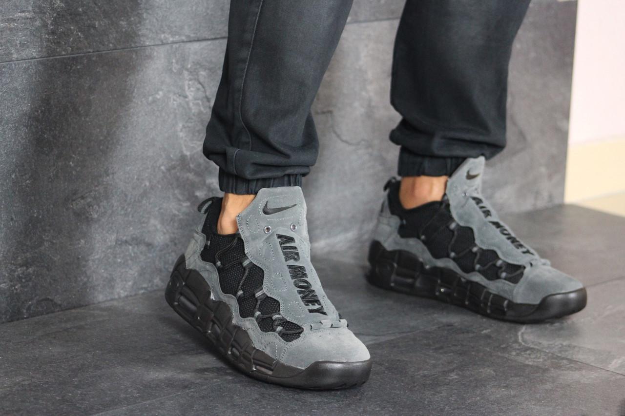 Кроссовки (в стиле) мужские Nike Air More Money,нубук,серые