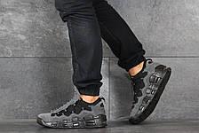 Кроссовки (в стиле) мужские Nike Air More Money,нубук,серые, фото 2