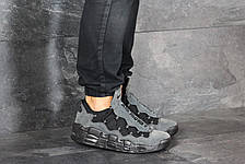 Кроссовки (в стиле) мужские Nike Air More Money,нубук,серые, фото 3