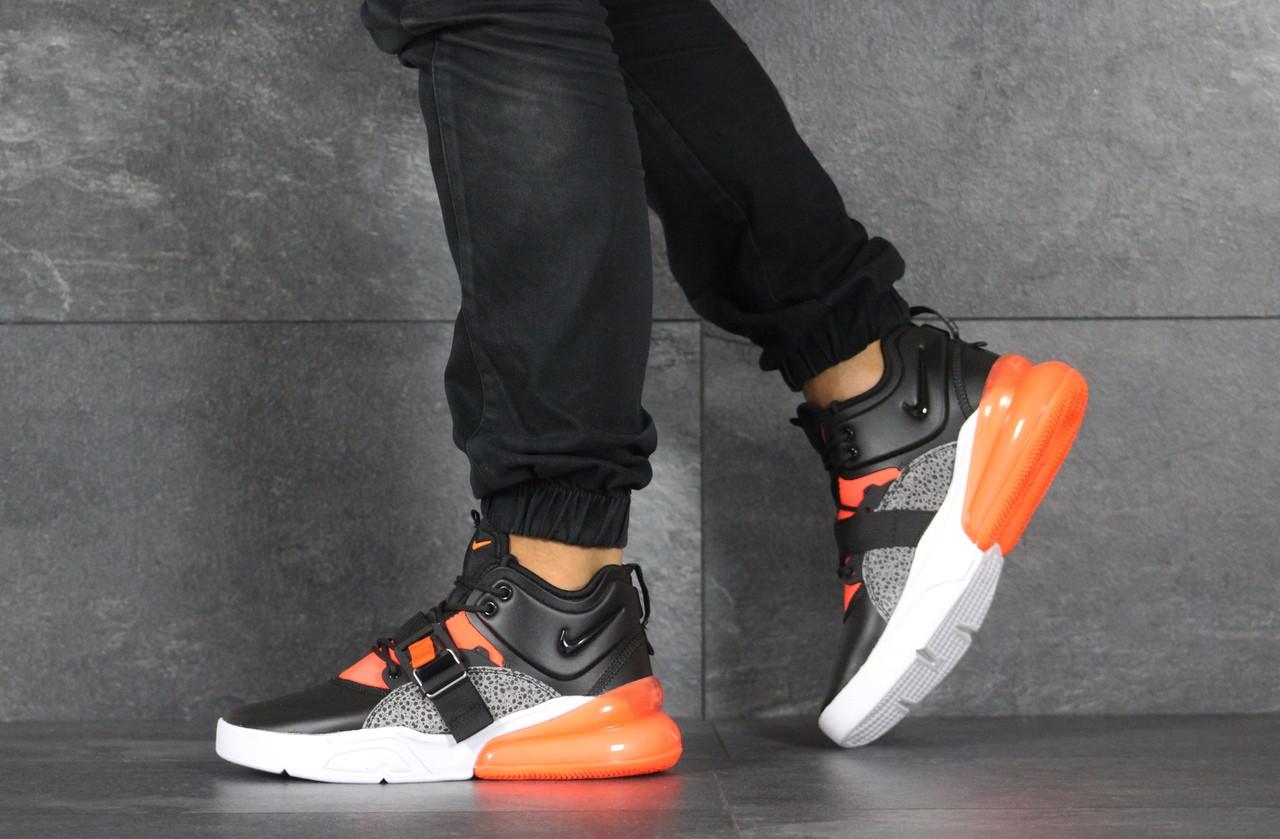 Кроссовки (в стиле) мужские Nike Air Force 270,черные с оранжевым 44р