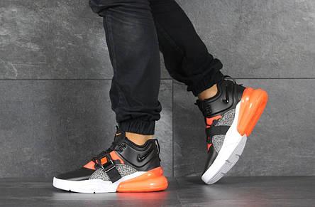 Кроссовки (в стиле) мужские Nike Air Force 270,черные с оранжевым 44р, фото 2