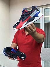 Мужские кроссовки (в стиле) Puma RS-X Hard Drive,темно синие с красным, фото 3