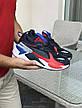 Мужские кроссовки (в стиле) Puma RS-X Hard Drive,темно синие с красным, фото 2