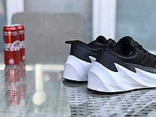 Мужские модные кроссовки (в стиле) Adidas Sharks,черно-серые с белым, фото 2