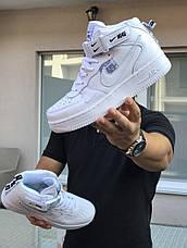 Кроссовки (в стиле) мужские Nike Air Force AF 1,белые, фото 2