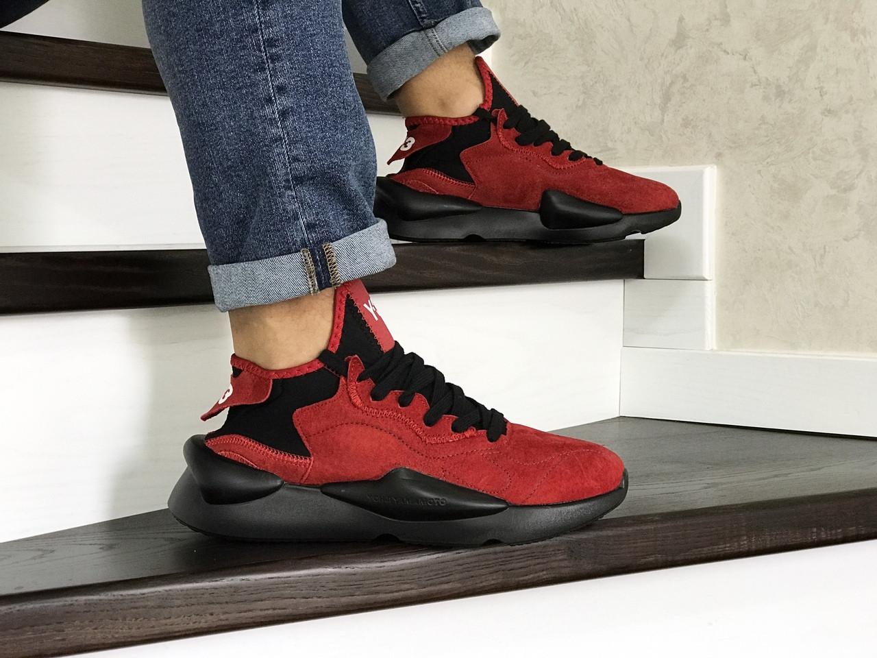 Кроссовки (в стиле) мужские Adidas Y-3 Kaiwa,замшевые,красные